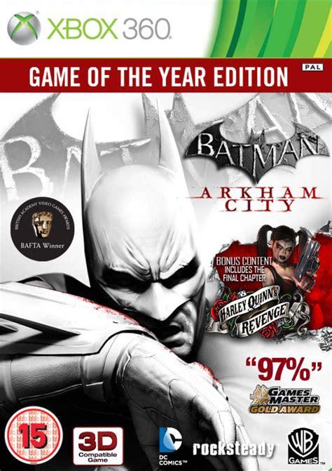 Bd Ps4 Batman Arkham Goty Edition Reg 2 batman arkham city of the year edition xbox 360