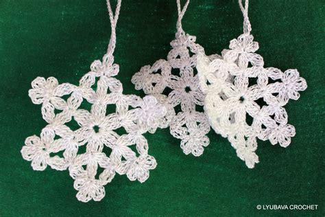 crochet snowflake pattern christmas tree by lyubavacrochet