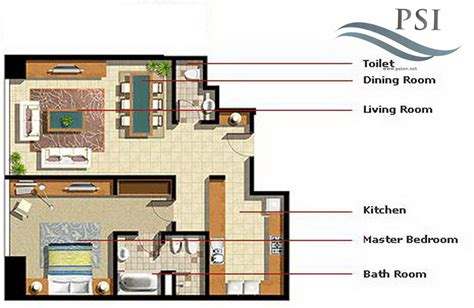 marina square floor plan 1 bedroom type a ocean terrace al reem island