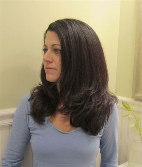 wife feminizes long hair my wife went from curly to straight at our new salon