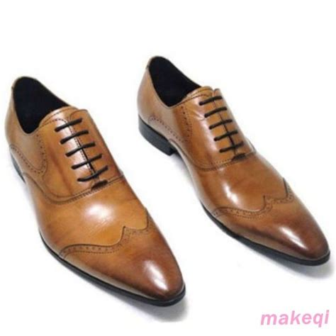 formal dress shoes genuine oxford leather lace up slip on formal dress