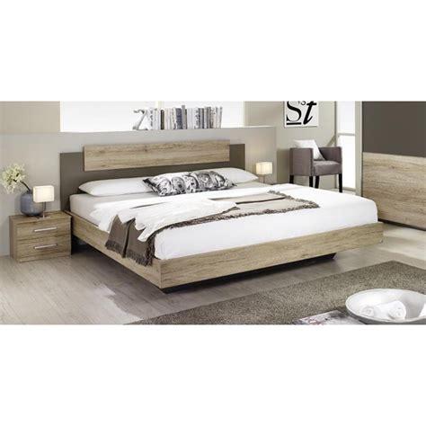 lit chambre adulte lit 160x200 cm avec 2 chevets borba olendo
