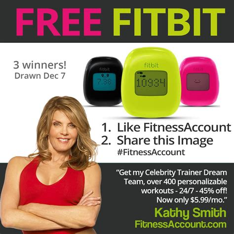 Fitbit Giveaway - fitbit giveaway kathy smith