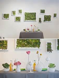 Wedding Wall Decor by A Modern Wedding At An Museum Green Wedding Shoes