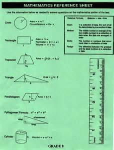 staar 8th grade math reference sheet 8th grade math