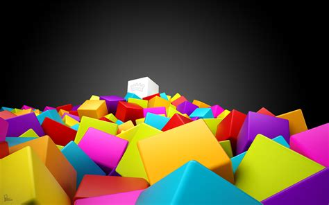 3d colorful squares wallpapers hd wallpapers