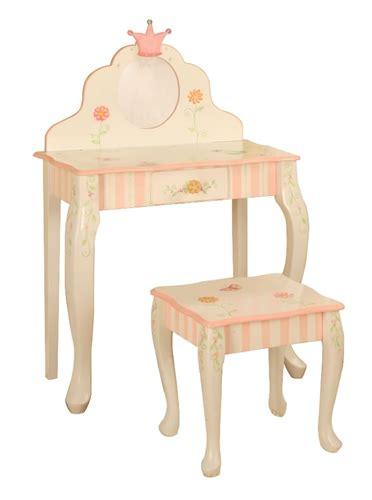 Kid Vanity Table And Chair Teamson Princess Frog Vanity Table Chair Set W 7455a