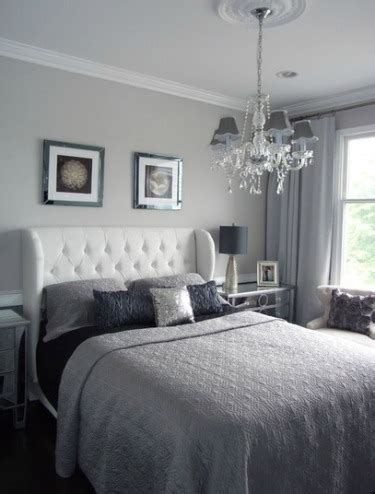 grey and silver bedroom interior colors for home staging
