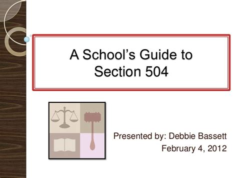 section 504 school section 504 presentation final