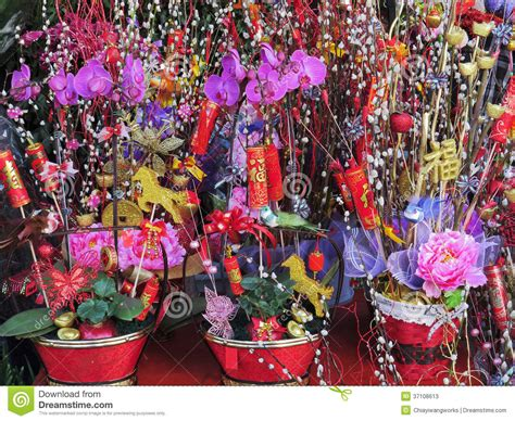 new year floral decorations flowers for celebration of new year stock image