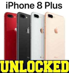 apple iphone 8 plus 64gb 256gb unlocked verizon gray silver new ebay