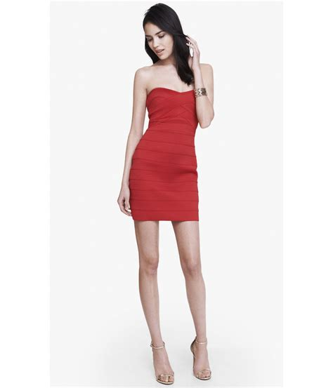 Dress Mini lyst express strapless bandage mini dress in