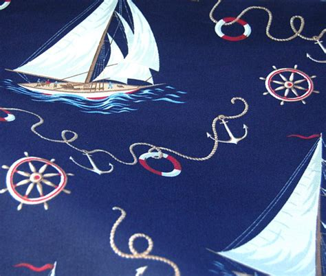 sailboat upholstery fabric ralph lauren navy sailboat nautical upholstery by