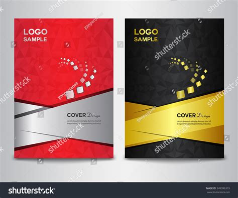 layout cover brochure set cover design template vector illustration stock vector