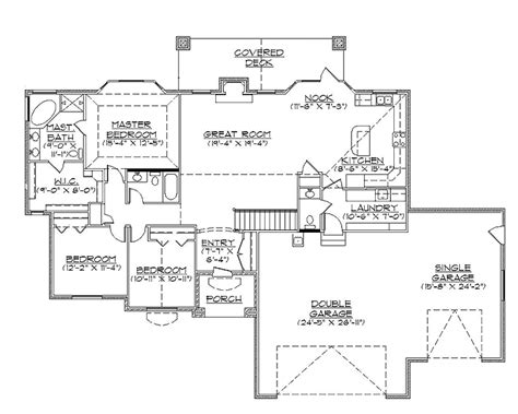 traditional rambler house plan hwbdo74002 traditional