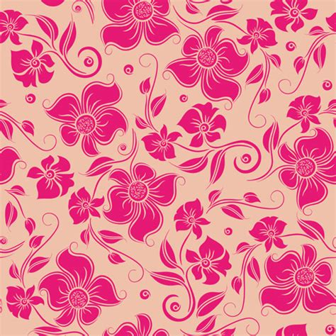 seamless pattern flower 15 pink floral wallpapers floral patterns freecreatives