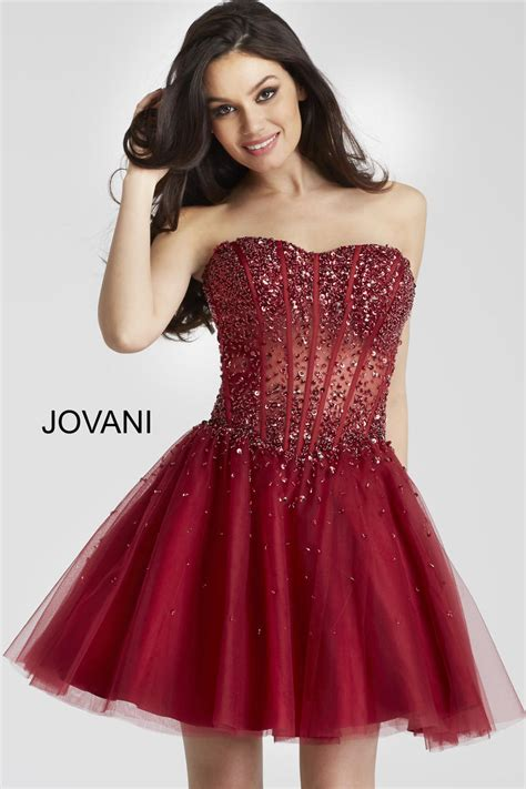 jovani  beaded sheer corset homecoming dress french