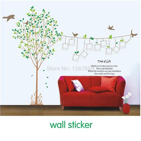 photography wall stickers free shipping 2014 large sticker size 230 170cm diy photos stickers family tree photo