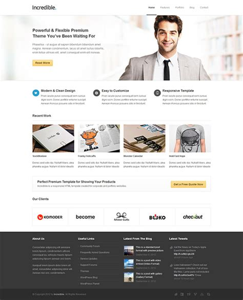 wordpress templates for it business business wordpress themes theme spiration premium