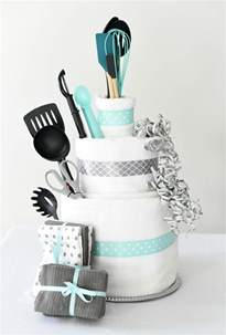 bridal shower gift idea towel cake squared