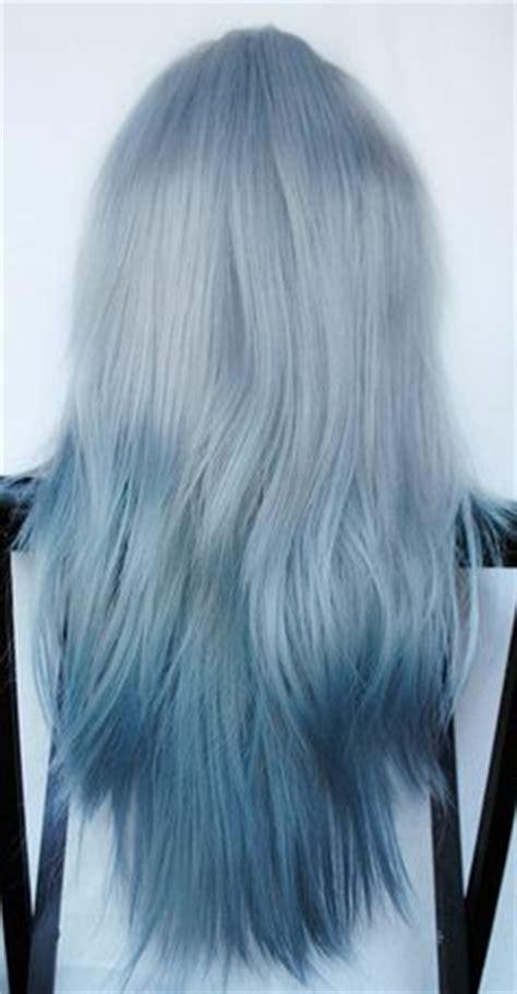 long  arctic fox hair dye  tips    color longer