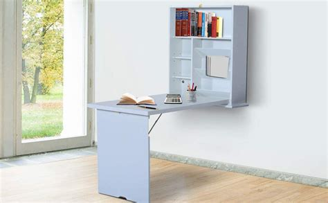 Wall Mounted Folding Desk by Homcom Compact Fold Out Wall Mounted