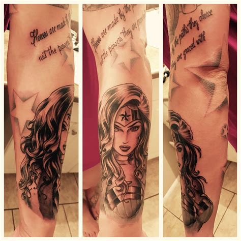 wonder woman tattoo my new sleeve feminine marvel