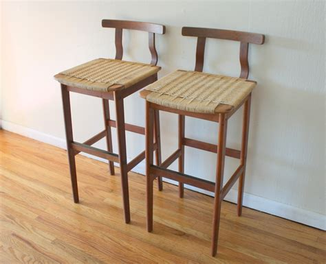 Woven Seat Bar Stools by Wooden Stool With Back Simple Bar Stools With Backs
