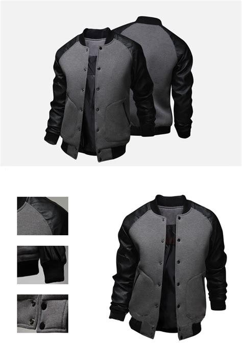 jacket design malaysia cool college baseball jacket men 2016 fashion design black