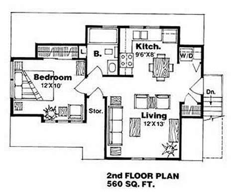 560 sq ft traditional style house plan 1 beds 1 baths 560 sq ft