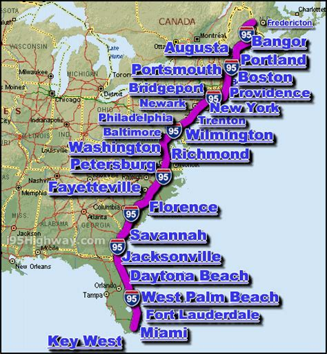 i 95 map i 95 interstate 95 highway road maps traffic and news