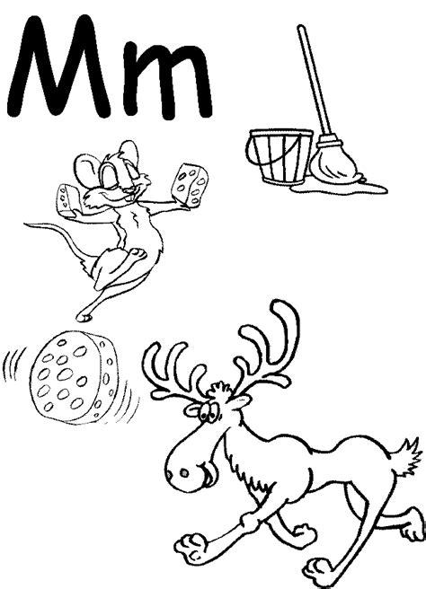 preschool coloring pages letter m letter m coloring pages 416288