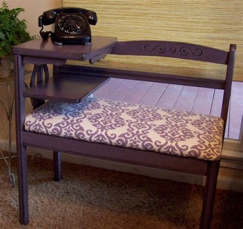 gossip bench gossip bench refinished in echo smoky plum with ikat fabric