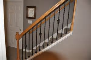 iron balusters wrought iron and stair railing on