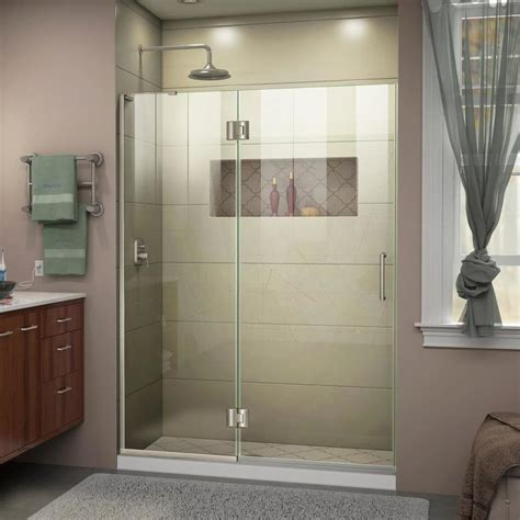 dreamline shower door installation shop dreamline unidoor x 53 in to 53 in frameless shower