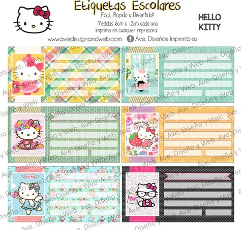 12 best ave etiquetas imprimibles images on printable labels printable etiquetas imprimibles hello kitty ave dise 241 o grafico y paginas web reynosa