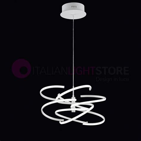 illuminazione sospensione design spirale lada a sospensione a led design moderno perenz