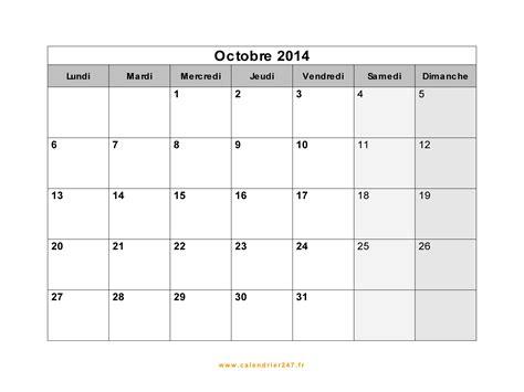 Calendrier Canadien 2014 Calendrier Octobre 2014 224 Imprimer Gratuit En Pdf Et Excel
