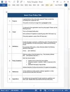 Policy Handbook Template by Employee Handbook Template 100 Pg Ms Word