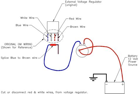 wiring diagram moreover gm external voltage regulator gm