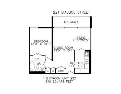 640 square feet floor plan floorplans for apartments in toronto at 221 265 balliol