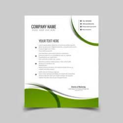 carta con membrete verde ondulada descargar vectores gratis