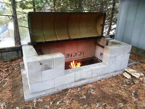 Build A Rotisserie Bbq Pit On A Small Budget D I Y Bullseye How To Make A Cheap Pit In Your Backyard