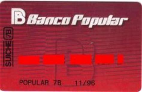 banco popular code bank card banco popular banco popular col ve