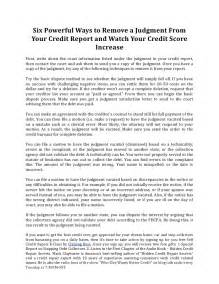 six powerful ways to remove a judgment from your credit