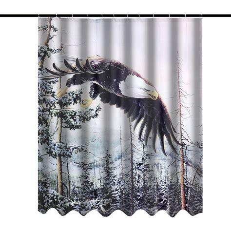 60x72 inch custom mountain winter bald eagle design
