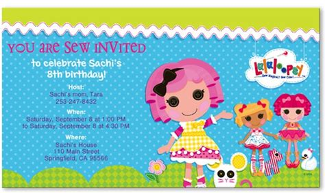 lalaloopsy invitation template party invitations ideas sew sweet a lalaloopsy birthday party evite