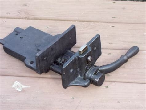 antique bench vise old antique woodwork bench vise wood vise quick set