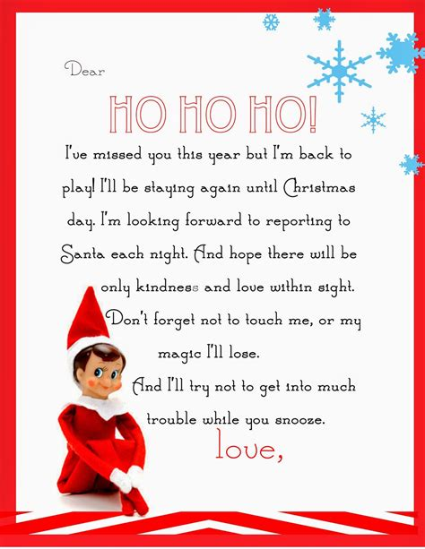Letters From On The Shelf Printable