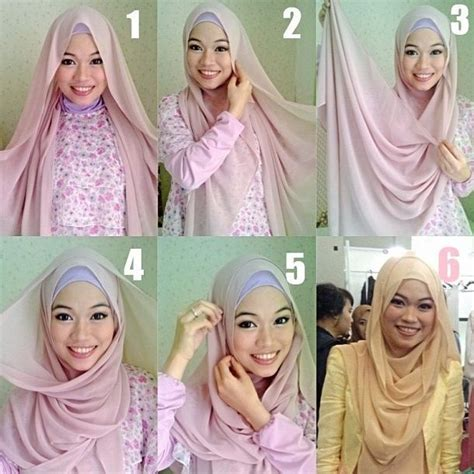 tutorial hijab pasmina licin simple 30 best hijab tutorial images on pinterest head scarfs